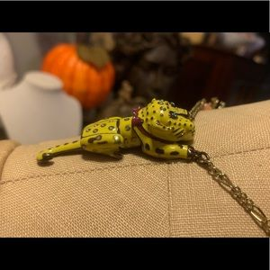 Betsey Johnson Cheetah Tiger Lizard Necklace